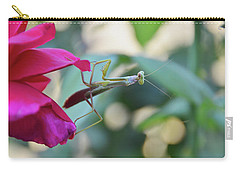 Carry-all Pouch featuring the photograph Surprise At The Rose by Debby Pueschel