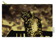 Surreal Cat Yawn Carry-all Pouch by Gina O'Brien