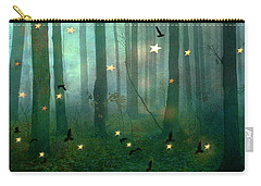 Surreal Dreamy Fantasy Nature Fairy Lights Woodlands Nature - Fairytale Fantasy Forest Woodlands  Carry-all Pouch