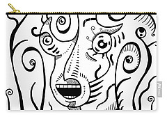 Surrealism Scream Black And White Carry-all Pouch