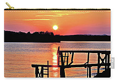 Surreal Smith Mountain Lake Dock Sunset Carry-all Pouch by The American Shutterbug Society