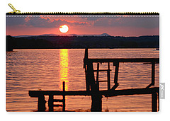 Surreal Smith Mountain Lake Dockside Sunset 2 Carry-all Pouch by The American Shutterbug Society