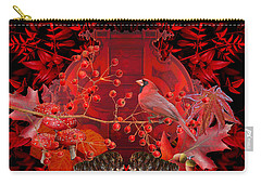 Surrealism Of Nature Autumn Colors Carry-all Pouch by Suzanne Powers
