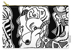 Surrealism Pagan Black And White Carry-all Pouch