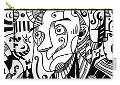 Surrealism Philosopher Black And White Carry-all Pouch