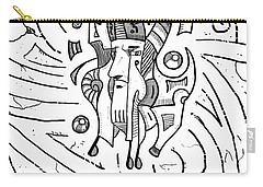 Surrealist Head Carry-all Pouch