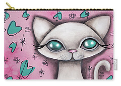Susan  Cat Carry-all Pouch by Abril Andrade Griffith