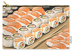 Carry-all Pouch featuring the painting Sushi by Veronica Minozzi