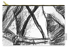 Carry-all Pouch featuring the painting Suspenders by Cathie Richardson