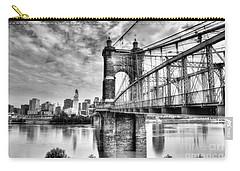 Suspension Bridge At Cincinnati Bw Carry-all Pouch