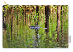 Carry-all Pouch featuring the photograph Swamp Stalker by Al Powell Photography USA
