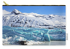 Carry-all Pouch featuring the photograph Svinafellsjokull Glacier Iceland by Matthias Hauser