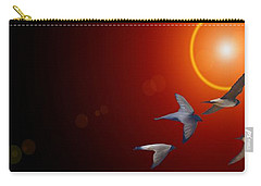 Swallows In Flight Carry-all Pouch by George Pedro