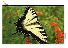 Swallowtail Among Lantana Carry-all Pouch by Sue Melvin