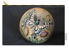Swallowtail Butterfly #gn32 Carry-all Pouch by Barbara Prestridge