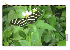 Swallowtail Butterfly On Leaf Carry-all Pouch