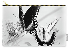 Carry-all Pouch featuring the photograph Swallowtail Double Feature by Anita Oakley