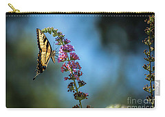 Carry-all Pouch featuring the photograph Swallowtail Lookout by Judy Wolinsky