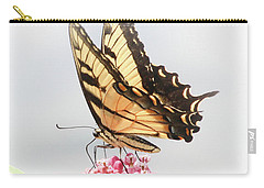 Carry-all Pouch featuring the photograph Swallowtail Splendor by Anita Oakley