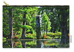 Swamp In Bloom Signed Carry-all Pouch