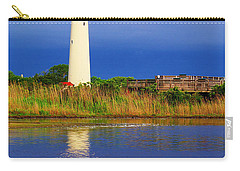 Swan At The Lighthouse Carry-all Pouch by Nick Zelinsky