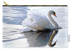 Swan Bathed In Morning Light Series 3 - Digitalart Carry-all Pouch