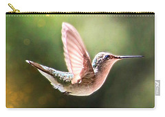 Swan Dive Hummingbird Carry-all Pouch