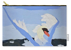 Carry-all Pouch featuring the painting Swan by Donald J Ryker III