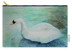 Swan Flight Carry-all Pouch by Tamyra Crossley