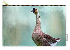Swan Goose Carry-all Pouch by Cyndy Doty