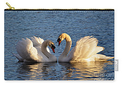 Swan Heart Carry-all Pouch