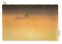 Swan In Aurora's Fiery Dawn Carry-all Pouch