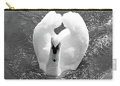 Swan In Motion Carry-all Pouch
