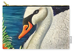 Swan In Pond Carry-all Pouch