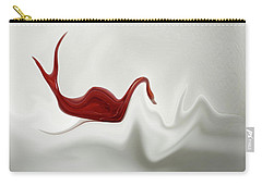 Swan In Turbulent Waters Carry-all Pouch by Skip Willits