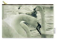 Swan In Water Carry-all Pouch