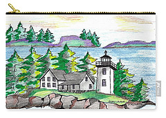 Swan Island Lighthouse Carry-all Pouch