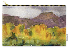 Carry-all Pouch featuring the painting Swan Lake by Kris Parins