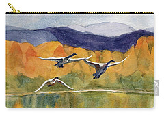 Carry-all Pouch featuring the painting Swan Lake Revisited by Kris Parins