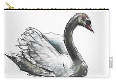 Swan Carry-all Pouch by Mark Adlington
