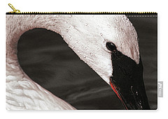 Carry-all Pouch featuring the photograph Swan Neck by Jean Noren