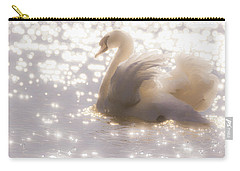 Swan Of The Glittery Early Evening Carry-all Pouch