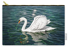Swan On Lake Geneva Switzerland  Carry-all Pouch