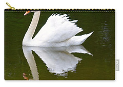 Swan Reflecting Carry-all Pouch