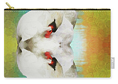 Swan Reflection Carry-all Pouch by Suzanne Handel
