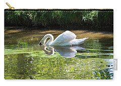 Swan Reflections, Rural England Carry-all Pouch