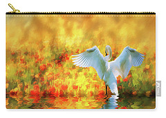 Swan Song At Sunset Thanks For The Good Day Lord Carry-all Pouch by Diane Schuster