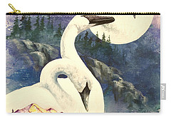 Carry-all Pouch featuring the painting Swan Song by Sherry Shipley