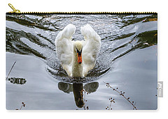 Swan Swim Carry-all Pouch by Glenn DiPaola