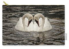 Swan Times Two Carry-all Pouch by Mary Hone